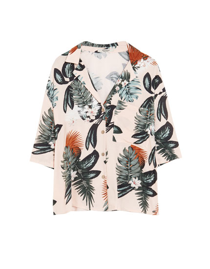 Camisa estampat tropical