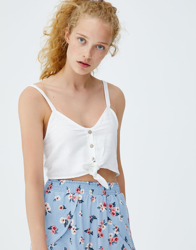 Pull & Bear - Top with front knot - 3