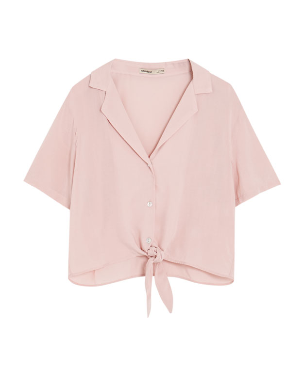 Pull & Bear - Shirt with lapel collar and knot - 6