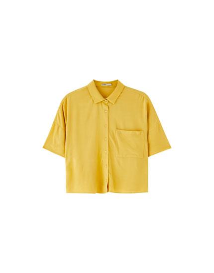 Oversize basic skjorte
