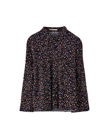 Camisa flores viscosa