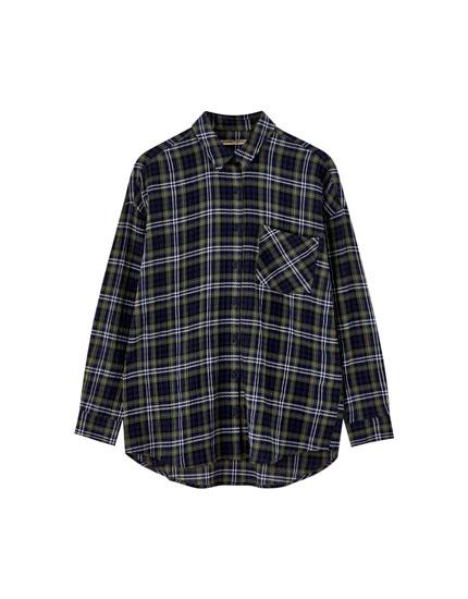 Camisa cuadros manga larga