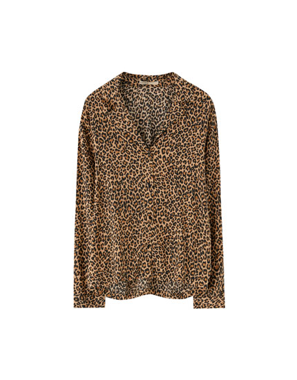 Camisa manga larga animal print