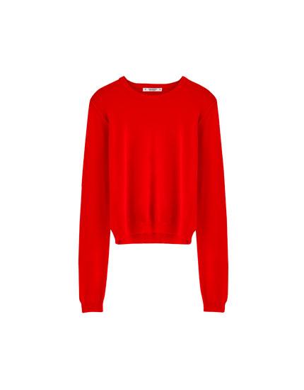 Jersey básico cuello redondo