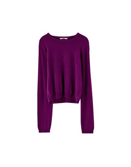 Sweater básico cuello redondo