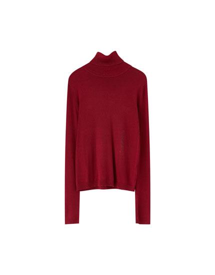Basic-Pullover mit Rollkragen