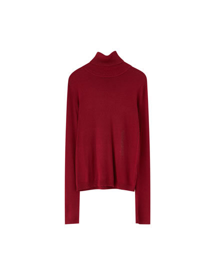 Sweater cuello alto básico