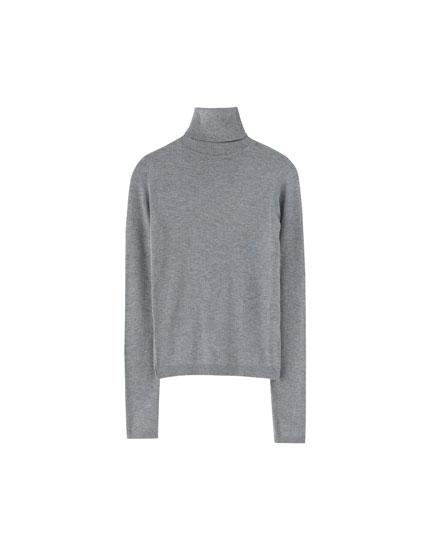 Jersey cuello alto básico