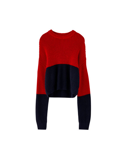 Coloured knit sweater