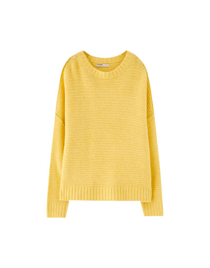 Soft round neck sweater