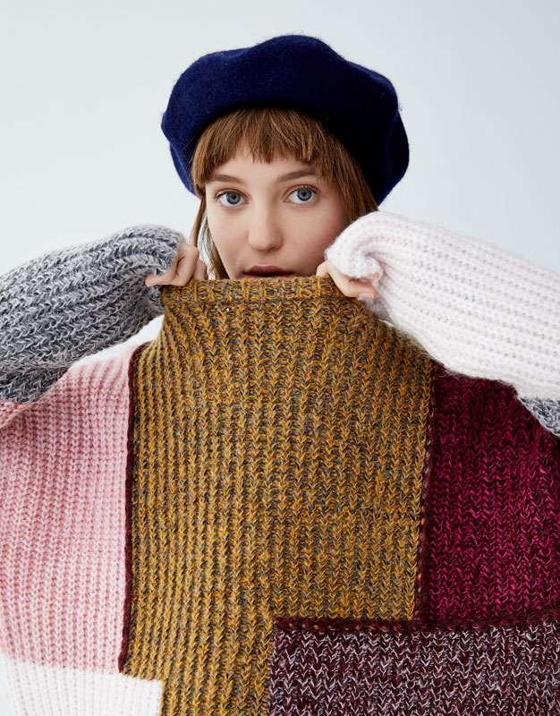 Maglia Patchwork Effetto Soft by Pull & Bear