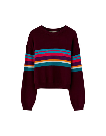 Pullover mit buntem Colour-Block