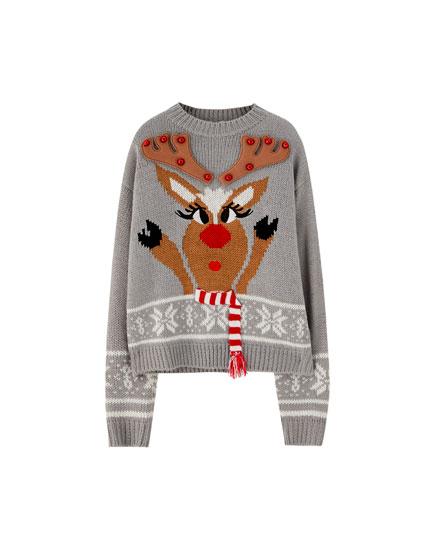 Jersey navideño reno cascabel
