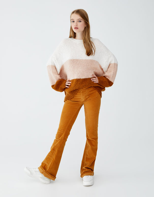 Sweater Con Rayas Anchas by Pull & Bear