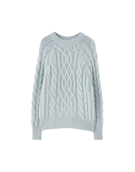 Soft cable-knit sweater