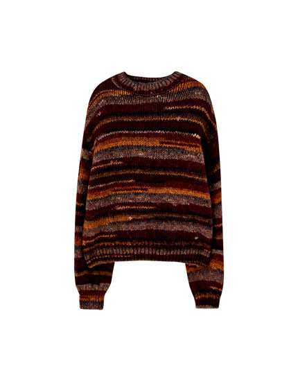 Ombré-effect knit sweater