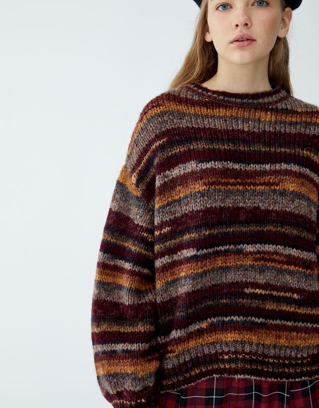 fd10c865567c Ombré-effect knit sweater - PULL BEAR