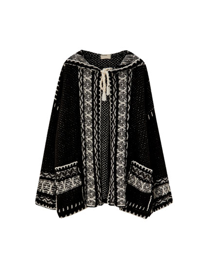 Jacquard djellaba jacket