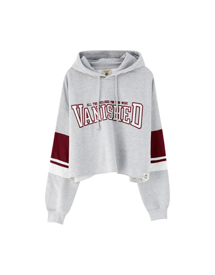 Sweat capuche universitaire