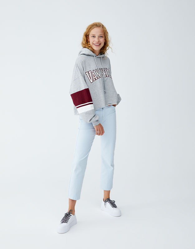 Felpa Con Cappuccio College by Pull & Bear