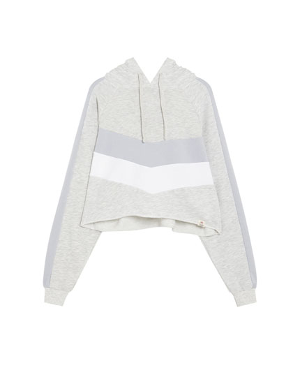 Double chevron panel sweatshirt