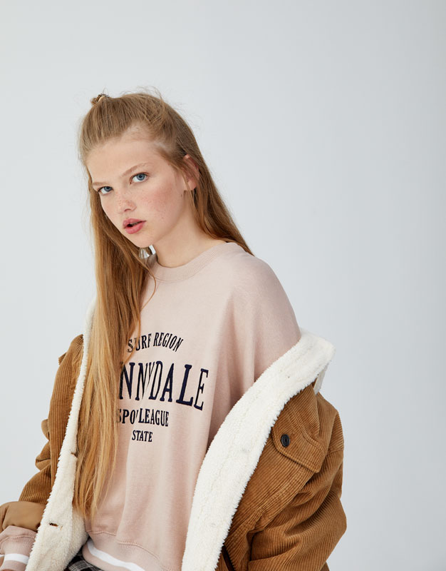 Embroidered Sunnydale Sweatshirt by Pull & Bear