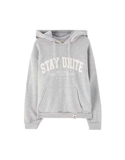Oversized varsity hoodie