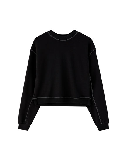 Topstitched sweatshirt