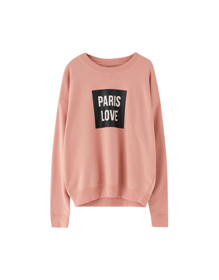 Basic slogan sweatshirt
