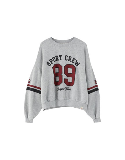 Varsity sweatshirt with number