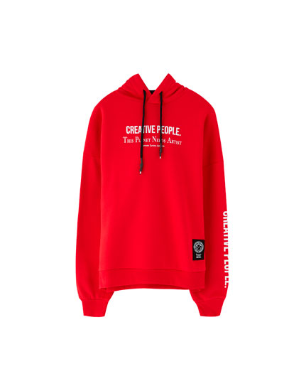 Coloured slogan sweatshirt