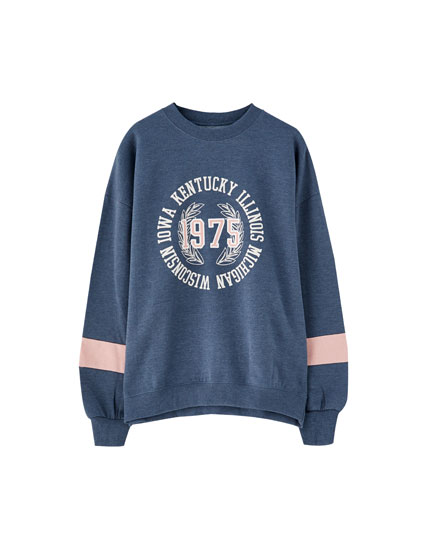 College patch sweatshirt