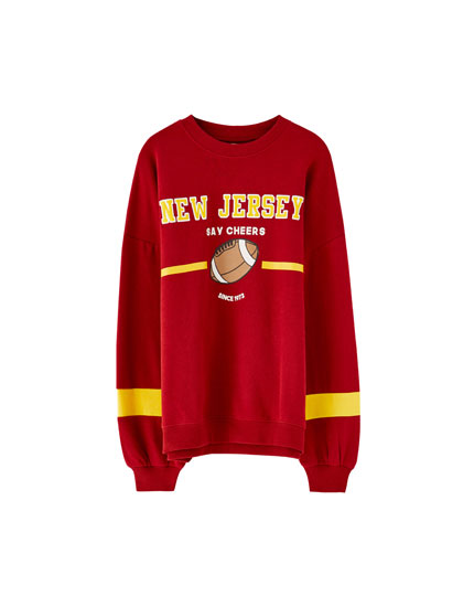 Sudadera college 'New Jersey'