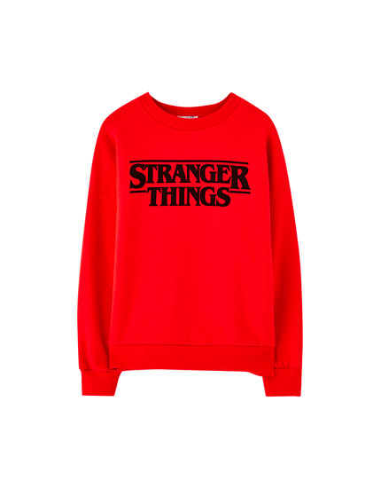 Netflix Stranger Things sweatshirt with chest logo