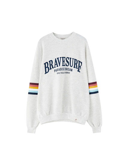 Sweatshirt with rainbow stripes