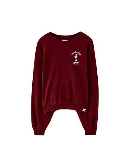 Sweat université américaine motif phare