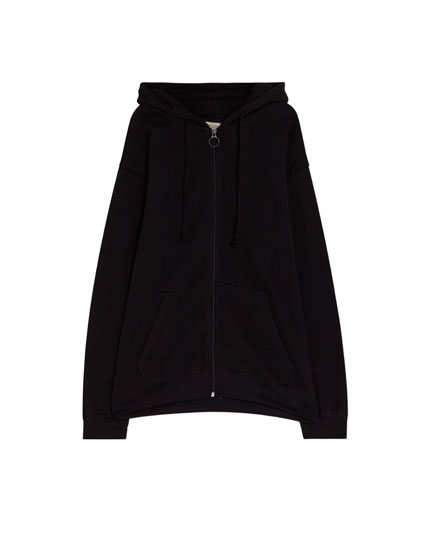 Basic zip-up sweatshirt