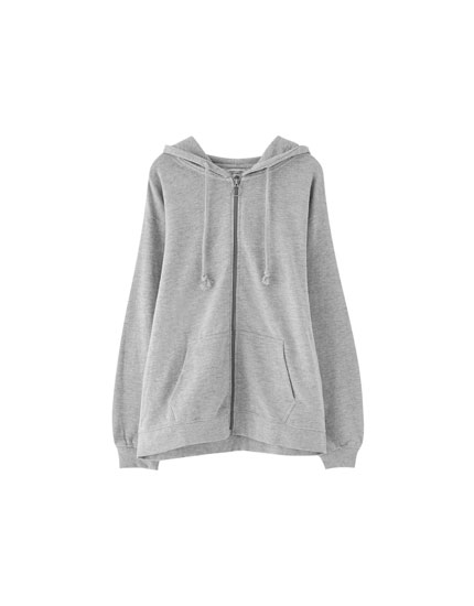 Basic zip-up sweatshirt