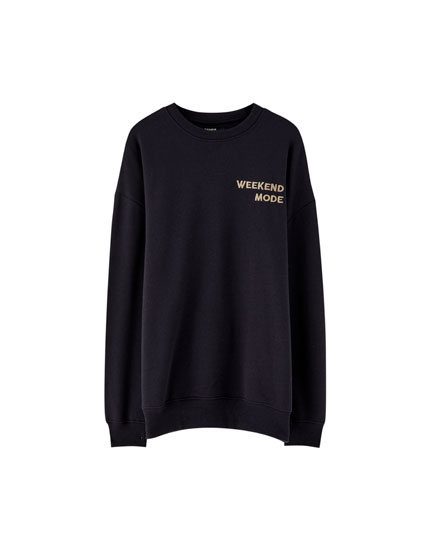 Embroidered Weekend Mode sweatshirt