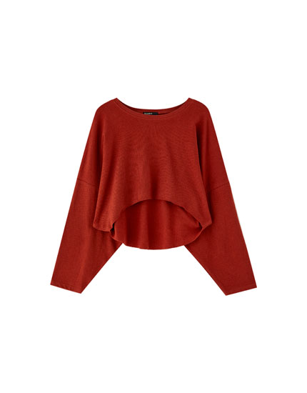 100% cotton cropped sweatshirt
