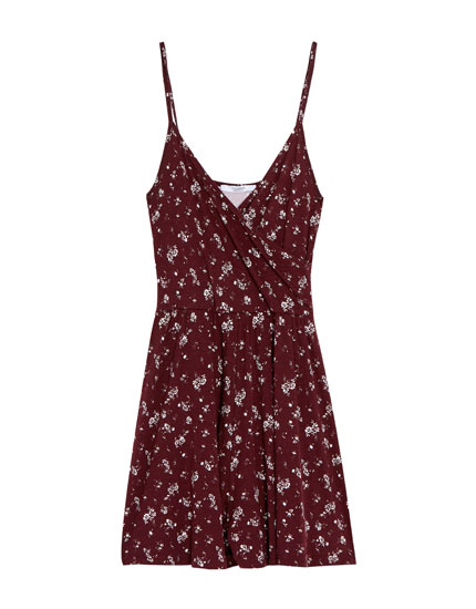 Short jumpsuit with thin straps