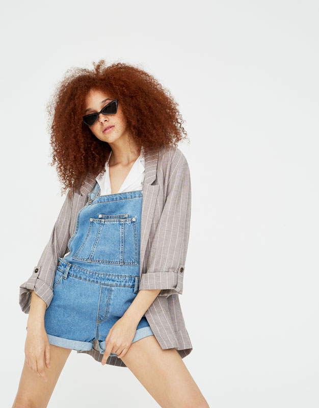 Salopette Short Jean by Pull & Bear