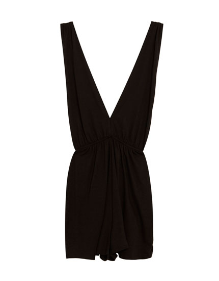 Short V-neck jumpsuit