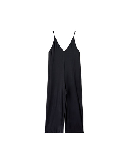Sporty jumpsuit with side stripe