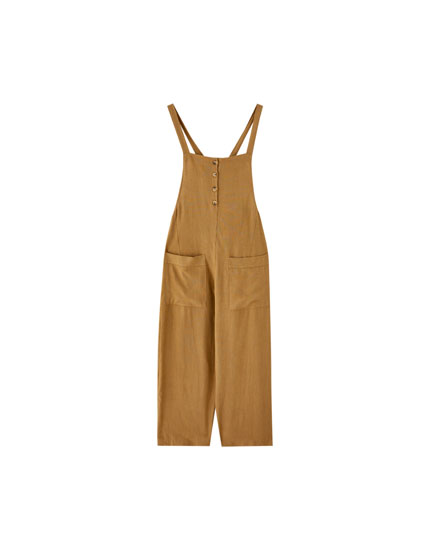 Culotte dungarees with buttons