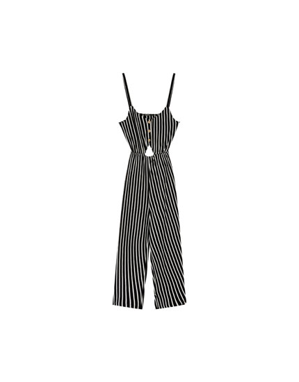 Cotton cut-out jumpsuit