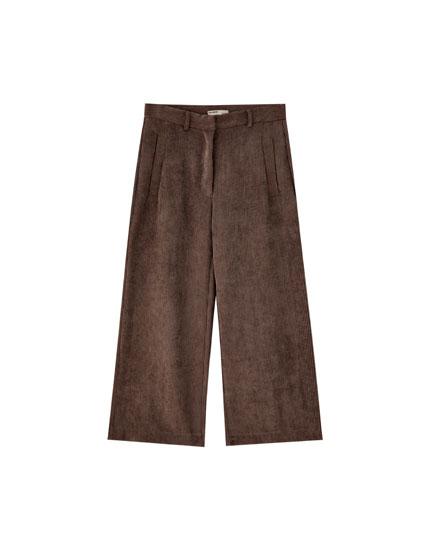 Pantalón pana culotte