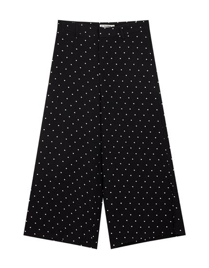 Pantaloni simpli culottes