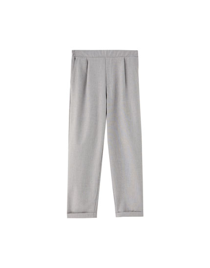 Tailored capri trousers