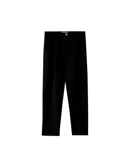 Tailored crepe trousers